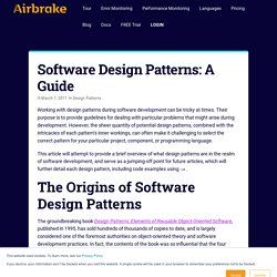 Software Design Patterns: A Guide