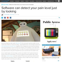 Software can detect your pain level just by looking
