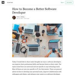 How to Become a Better Software Developer – devtrails.io