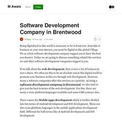 Software Development Company in Brentwood
