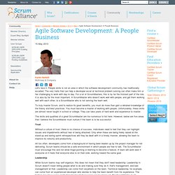 Agile Software Development: A People Business