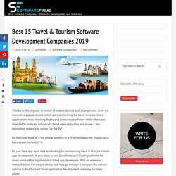 Best 15 Travel & Tourism Software Development Companies 2019
