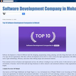 Software Development Company in Mohali: Top 10 Software Development Companies in Mohali