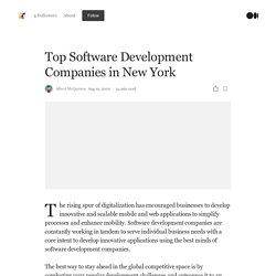 Top Software Development Companies in New York City