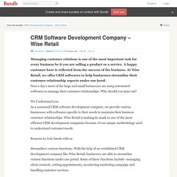 CRM Software Development Company – Wise Retail