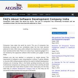 FAQ's About Software Development Company India