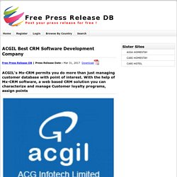 Acgil Best Crm Software Development Company