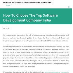 How To Choose The Top Software Development Company India