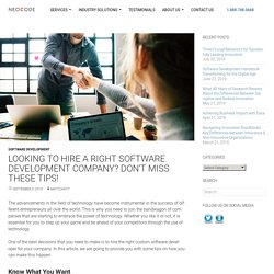 Tips In Hiring The Right Software Development Company