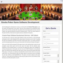 Omaha Poker Game Software Development, Hire Omaha Poker Developer USA