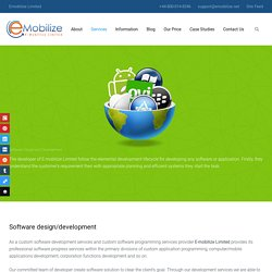 Software design & development - Emobilize Limited