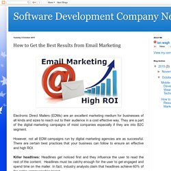 Software Development Company Noida : How to Get the Best Results from Email Marketing