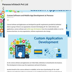 Custom Software and Mobile App Development at Panacea