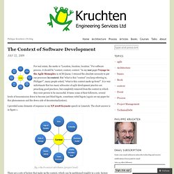 The Context of Software Development « Philippe Kruchten