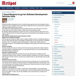 7 Good Reasons to go for Software Development Services India