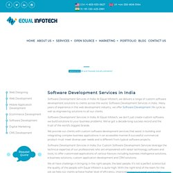 Get Customized Software Development Services in India! Equal Infotech