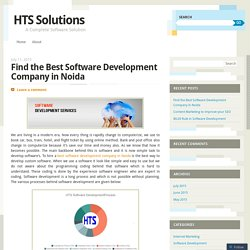 Find the Best Software Development Company in Noida