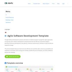 Agile Software Development Template - Pipefy
