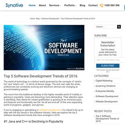 Top 5 Software Development Trends of 2016