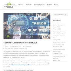 5 Software Development Trends of 2021 – blog