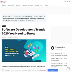 Software Development Trends 2020 You Need to Know