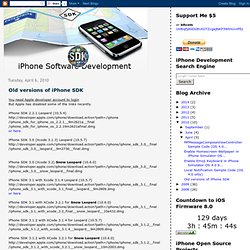 Old versions of iPhone SDK