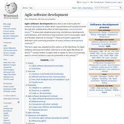Agile software development - Wikipedia