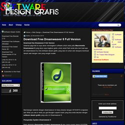 Software Desain Grafis: Download Free Dreamweaver 8 Full Version