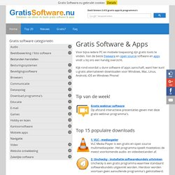 Gratis Software.nu » Download Freeware & Open Source Gratis!