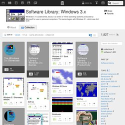 Software Library: Windows 3.x : Free Software : Download & Streaming