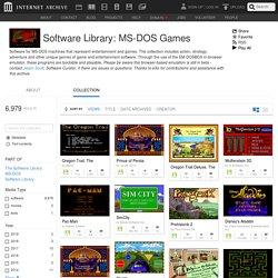 Bibliothèque de jeux vidéos : jeux MS-DOS en flash : téléchargement gratuit, emprunt et streaming