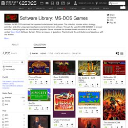 Software Library: MS-DOS Games : Free Software : Download & Streaming