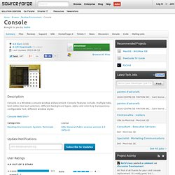 Console | Free software downloads at SourceForge