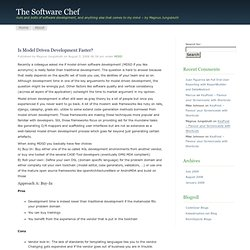 Is Model Driven Development Faster? « The Software Chef