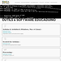 Site Officiel – Arduino – EurosmartOutils [color] & Software Educaduino[/color] - Educaduino Site Officiel - Arduino - Eurosmart