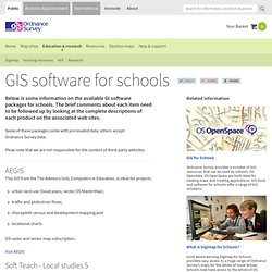 GIS software for schools