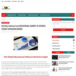 Get Most Software Fact EDUCATIONAL MARKET TO WITNESS STEADY EXPANSION DURING