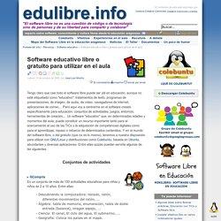 Software educativo libre o gratuito para utilizar en el aula