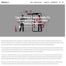 Software Testing Skills to Learn Become a Software Testing Engineer