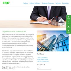 ERP Software for Real Estate Industry India – Sage Software