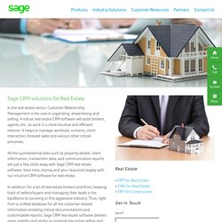 CRM Software for Real Estate Industry India – Sage Software