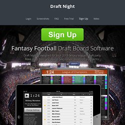 Fantasy Football Draft Board for iPad - 2012