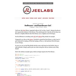 » Software- and hardware-I2C JeeLabs