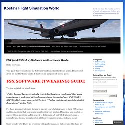 FSX/P3D Software and Hardware Guide