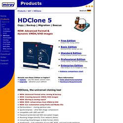 Software - HDClone - Hard disk copy, hard disk backup, hard disk rescue!