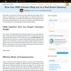 How Can CRM Software help you in a Real Estate Industry?
