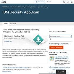 IBM - Software - IBM Security AppScan
