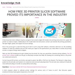 How Free 3D Printer Slicer Software Proved Its Importance in the Industry - knowledge Hub