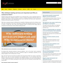 Why Software testing services are important and Why to outsource them?