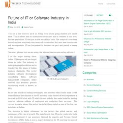 Future of IT or Software Industry in India